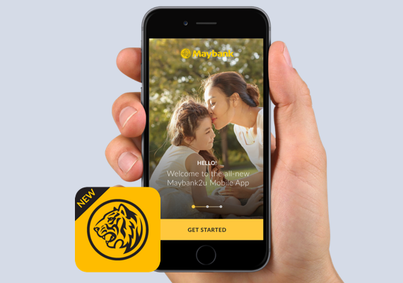 Re-designed Maybank app which is simpler and easier than ever before.